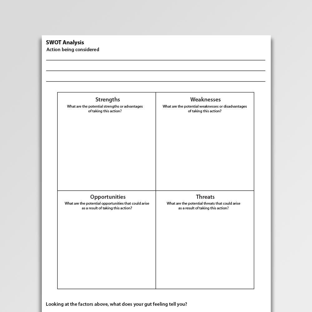 Swot Analysis Worksheet Pdf Psychology Tools