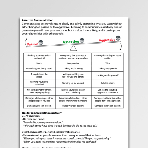 Self-Esteem Worksheets & Exercises | Psychology Tools
