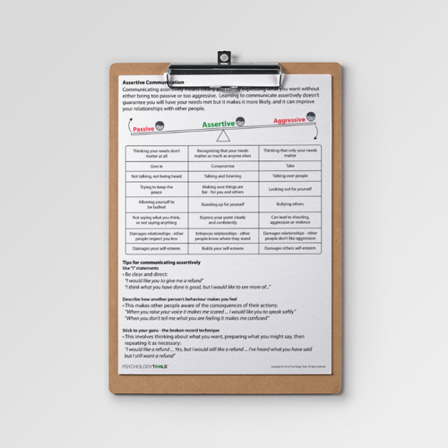 Assertive communication worksheets pdf