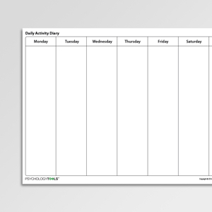 cbt daily activity diary filetype pdf