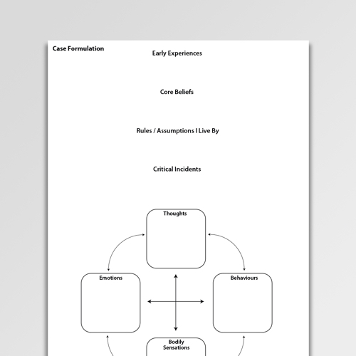 Longitudinal Formulation 2 Worksheet Pdf Psychology Tools