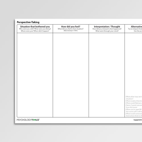 Download Therapy Worksheets Psychology Tools. Worksheet. Cbt Worksheets At Mspartners.co