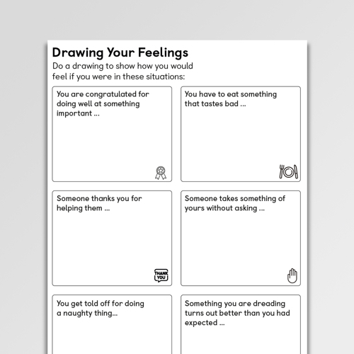 Drawing Your Feelings (CYP) - Psychology Tools