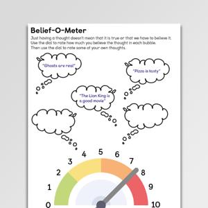 Belief-O-Meter CBT Worksheet