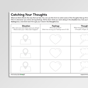 Catching Your Thoughts CBT Worksheet