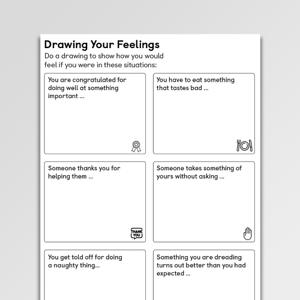 Drawing Your Feelings CBT Worksheet