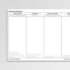 Addictions Worksheets For Professionals