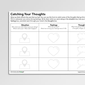 Catching Your Thoughts (CYP) - Psychology Tools