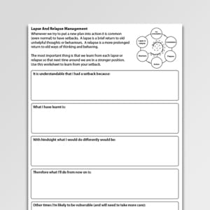Addictions Worksheets For Professionals And Self Help Psychology Tools