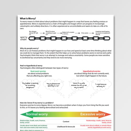 What Is Worry? CBT Handout