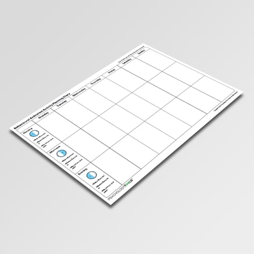 Behavioral Activation Activity Planning Diary
